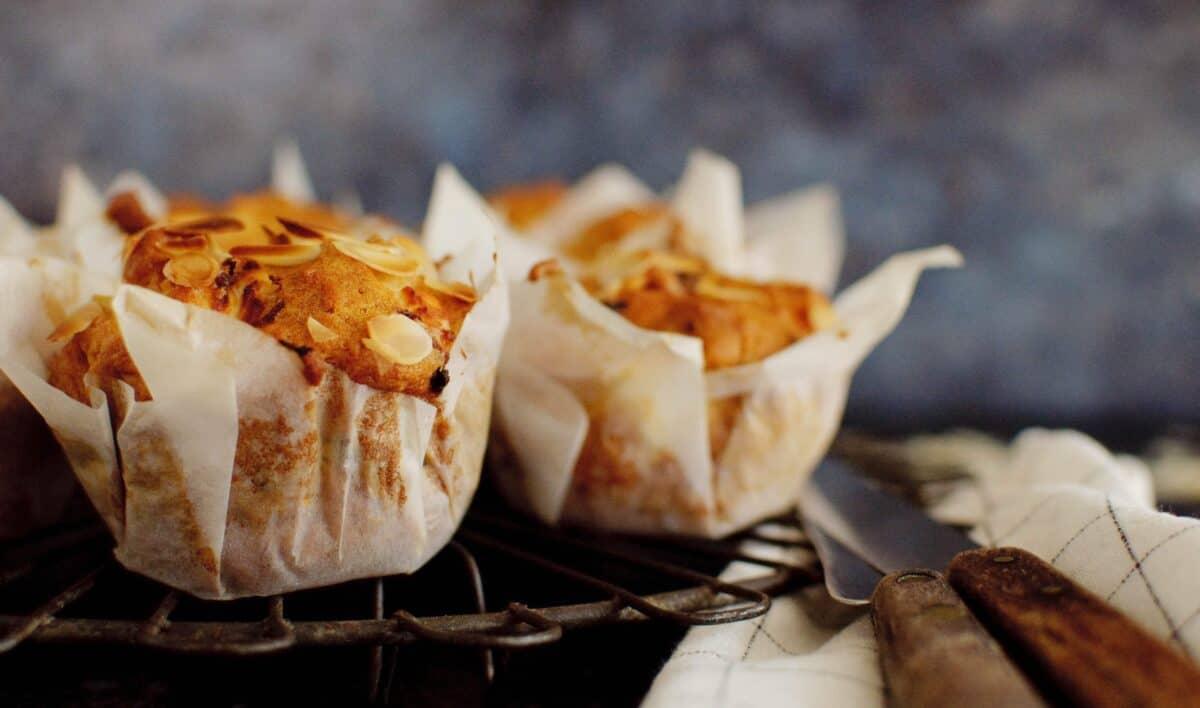 Hartige muffin geitenkaas & abrikoos