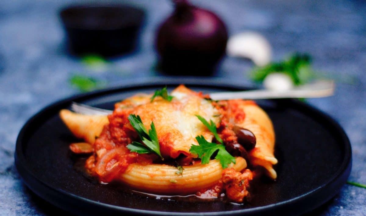Pasta tomaat tonijn mozzarella