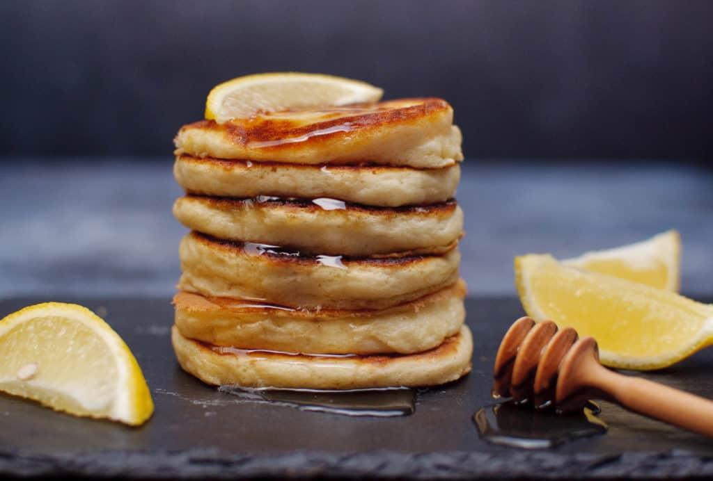 American pancakes met bramensaus