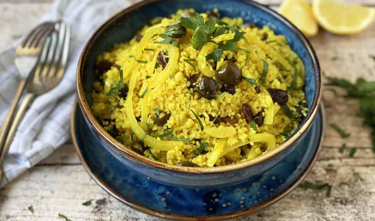 Couscous citroen rozijnen & olijven