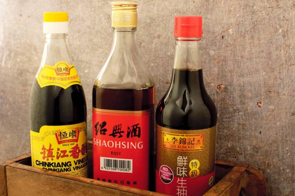 Chinese azijn rijstwijn sojasaus