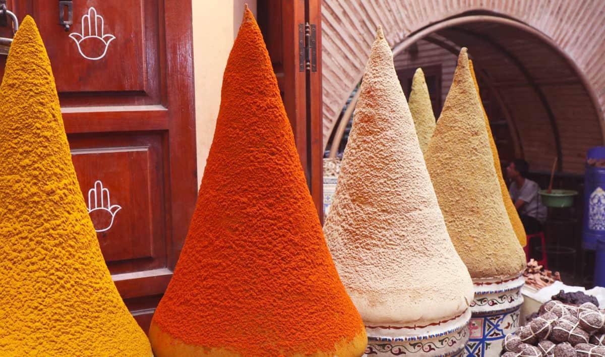 Marrakesh specerijen Mellah