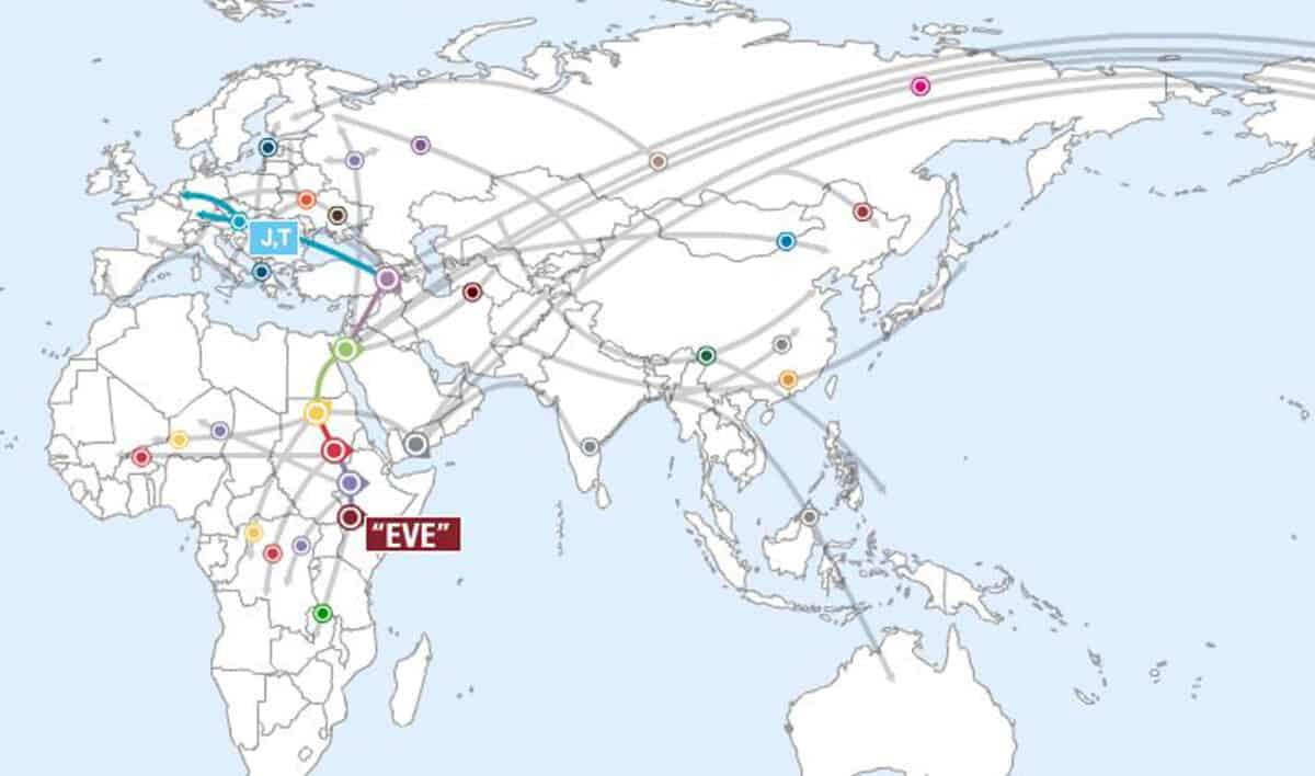 DNA richting Turkije & Afrika