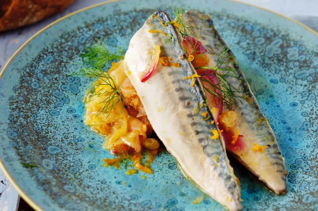 Escabeche, gemarineerde vis als voorgerecht