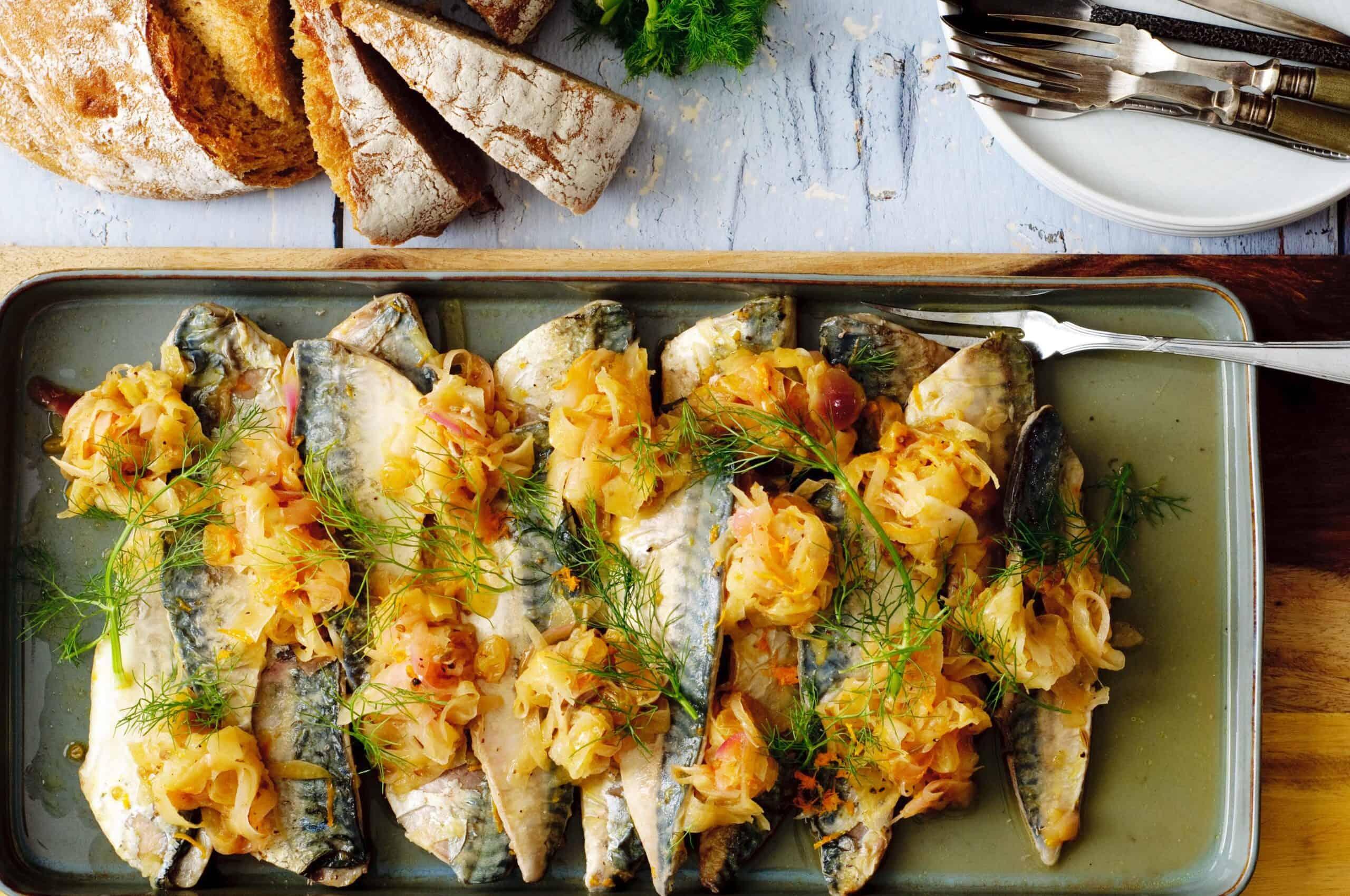 Escabeche gemarineerde vis, shared dining