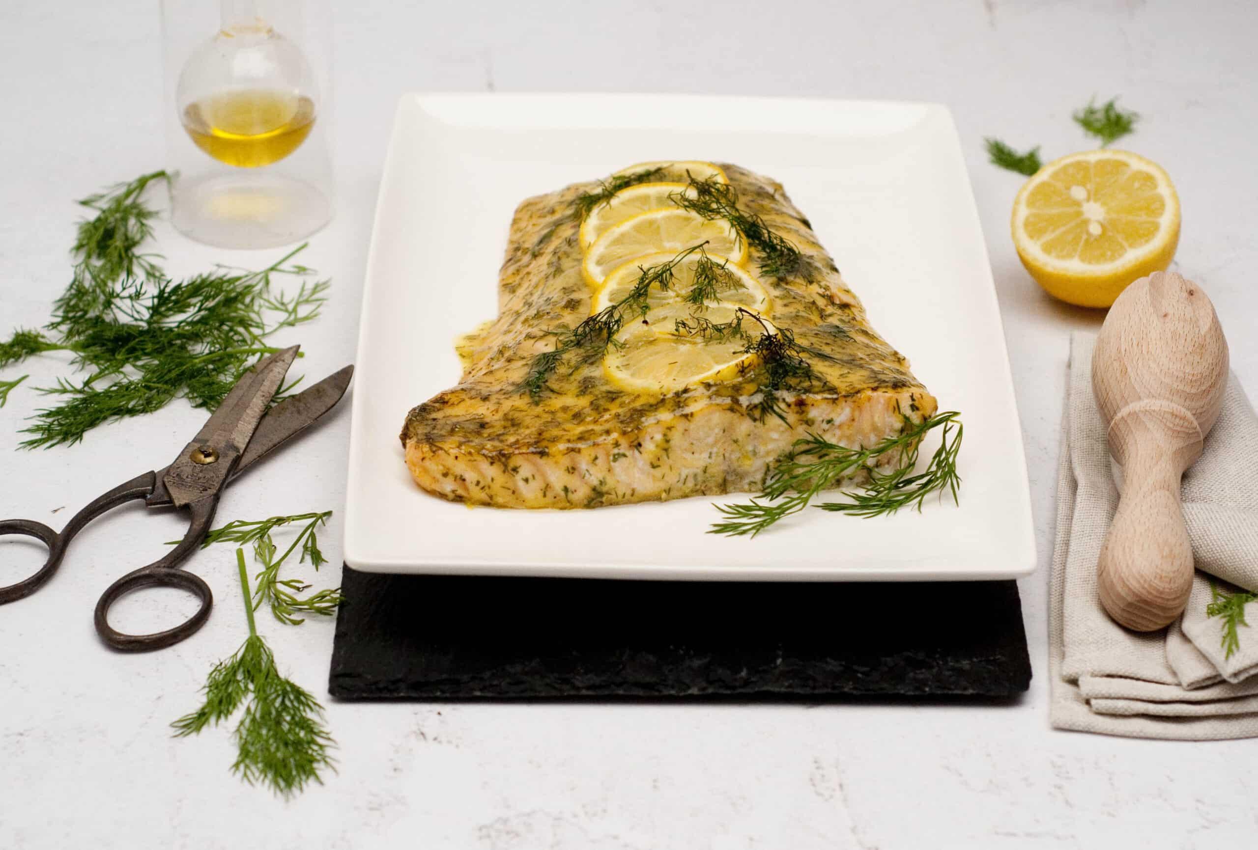 Zalm dille & mosterd uit de oven