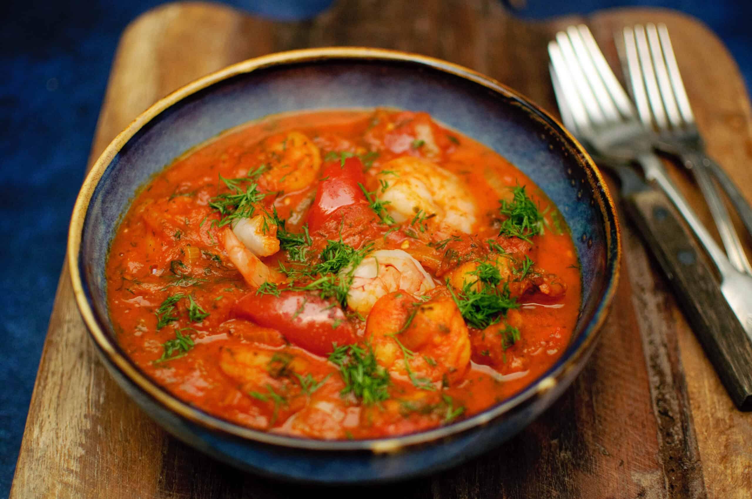 Garnalen tomaten fenegriek