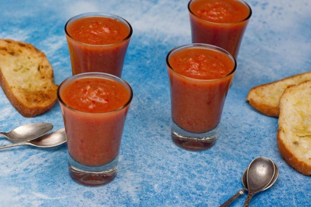 Gazpacho lekker fris...