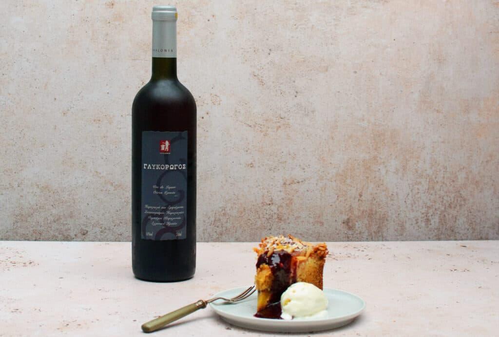 Amandelcake & rode dessertwijn