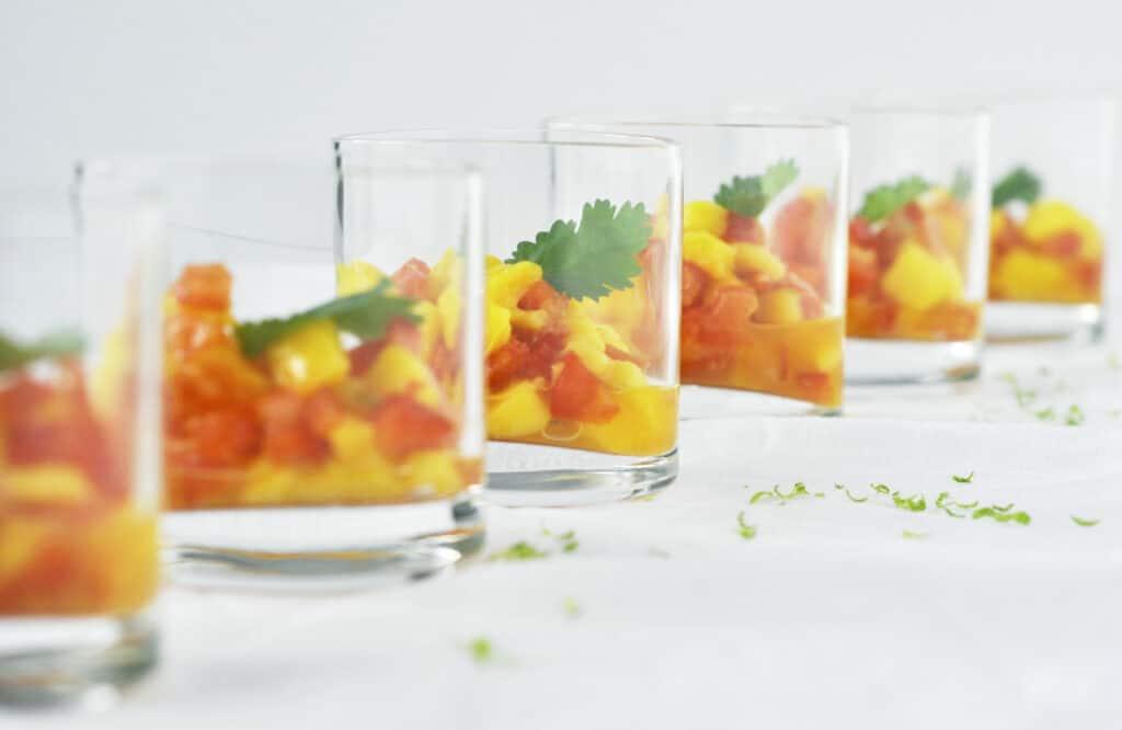 Salsa mango tomaat & paprika