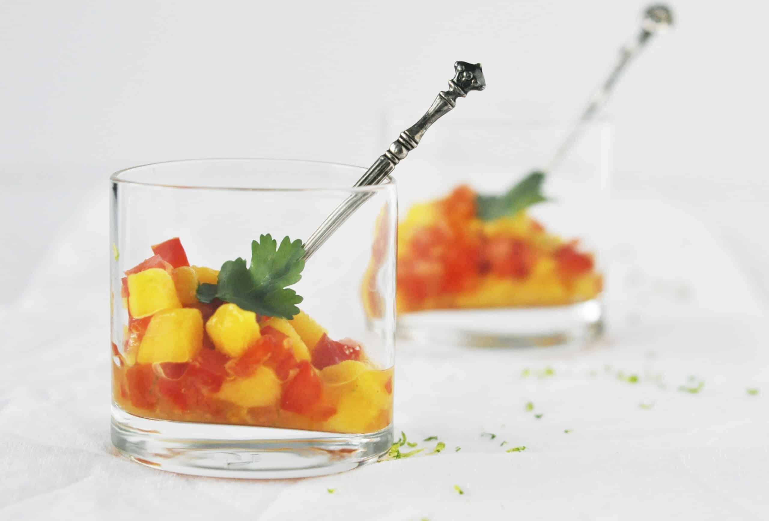 Mango salsa met tomaat & paprika