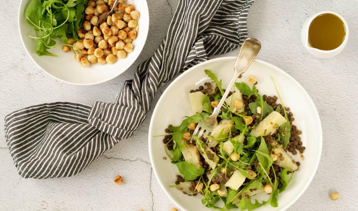 Salade knolselderij & linzen