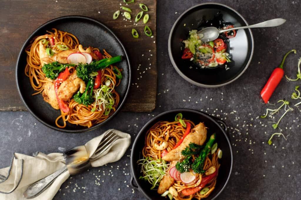 Chow mein in 15 minuten
