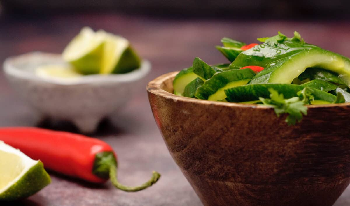 Pittige komkommersalade