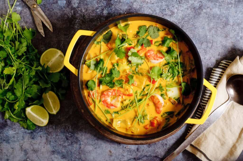 Thaise curry met garnalen