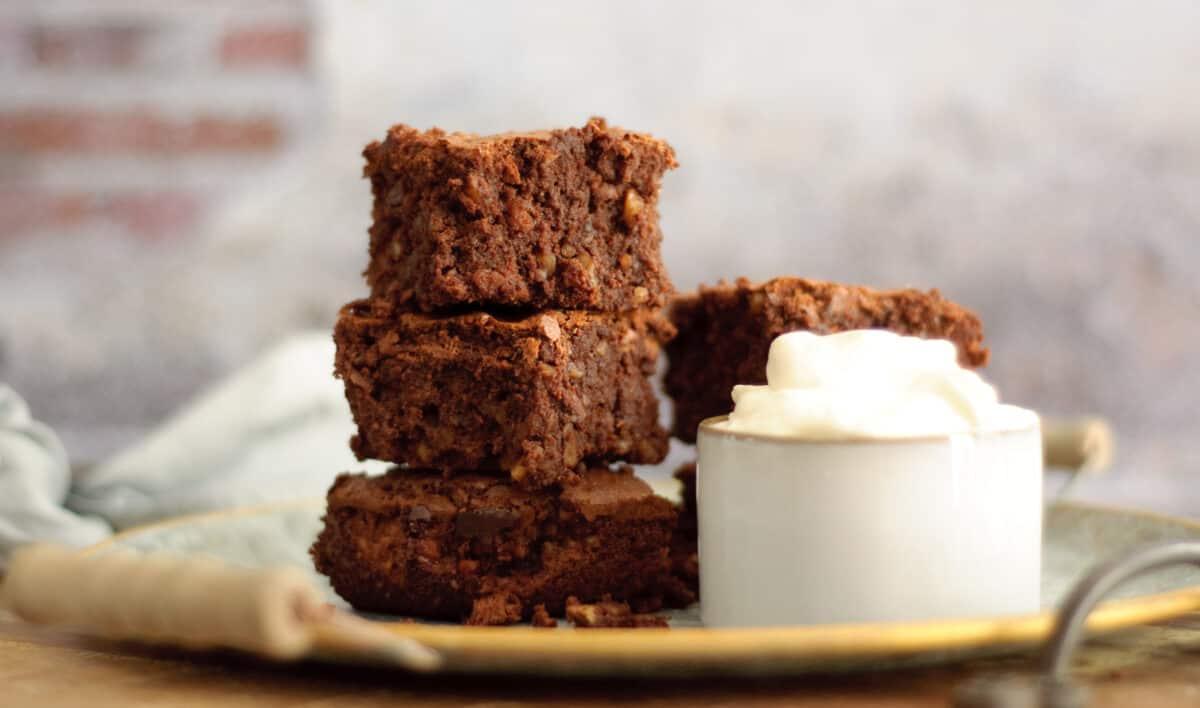 Brownie noten & ricotta