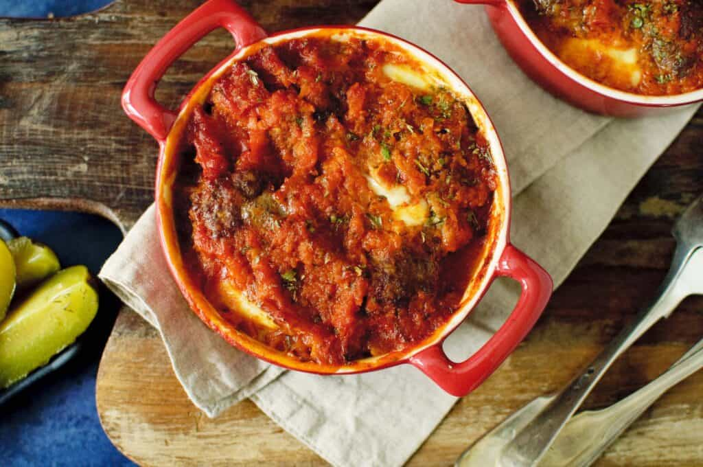 Gehaktballen tomatensaus & mozzarella