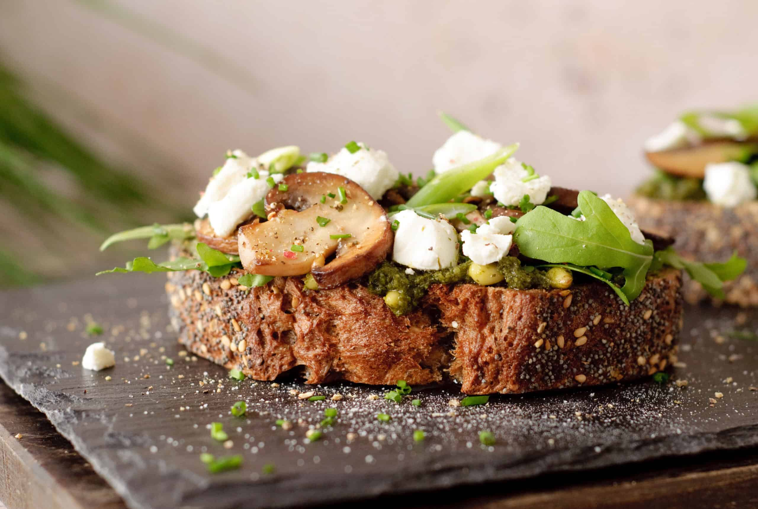 Lunchrecept toast champignons