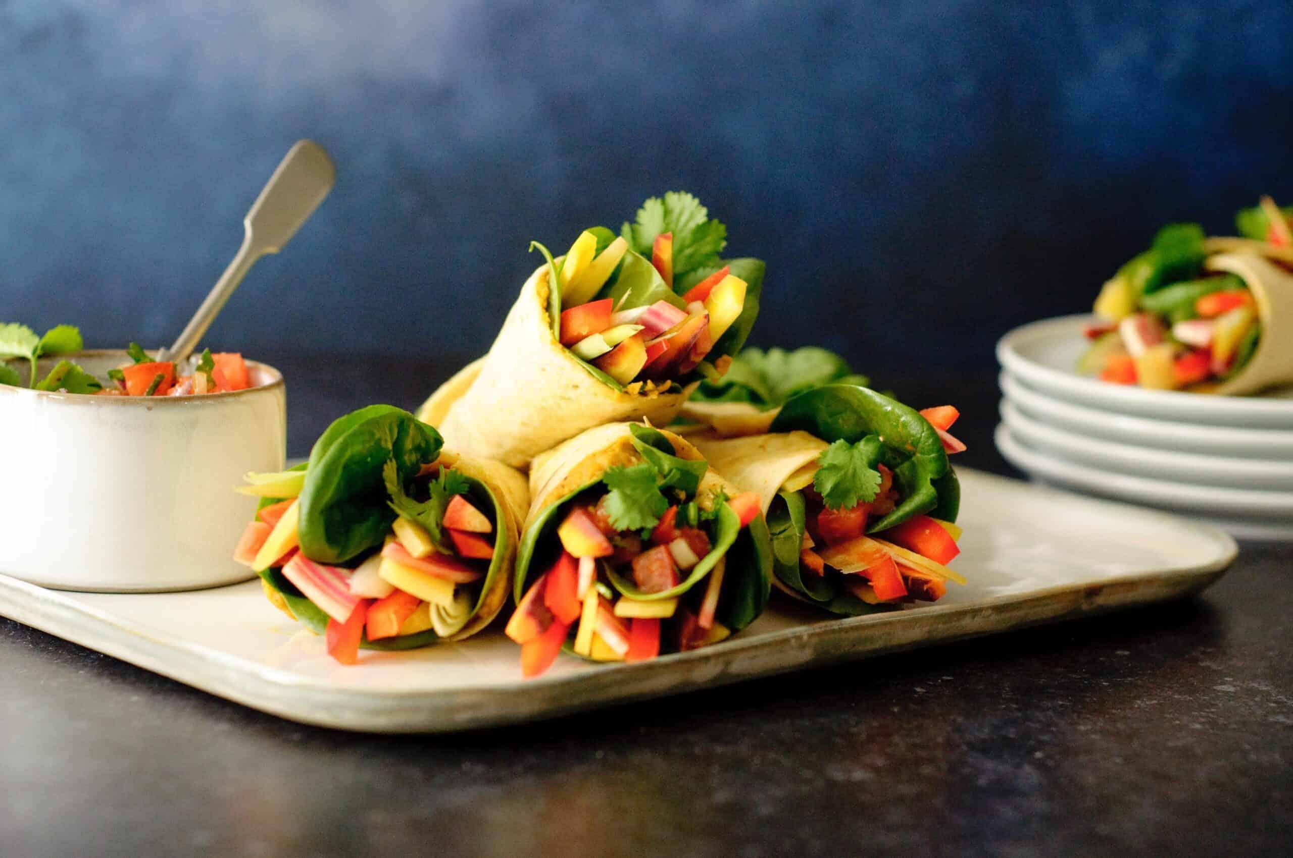 Wraps rauwkost hummus & salsa