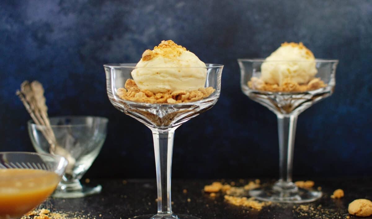 Karamelijs zonder ijsmachine