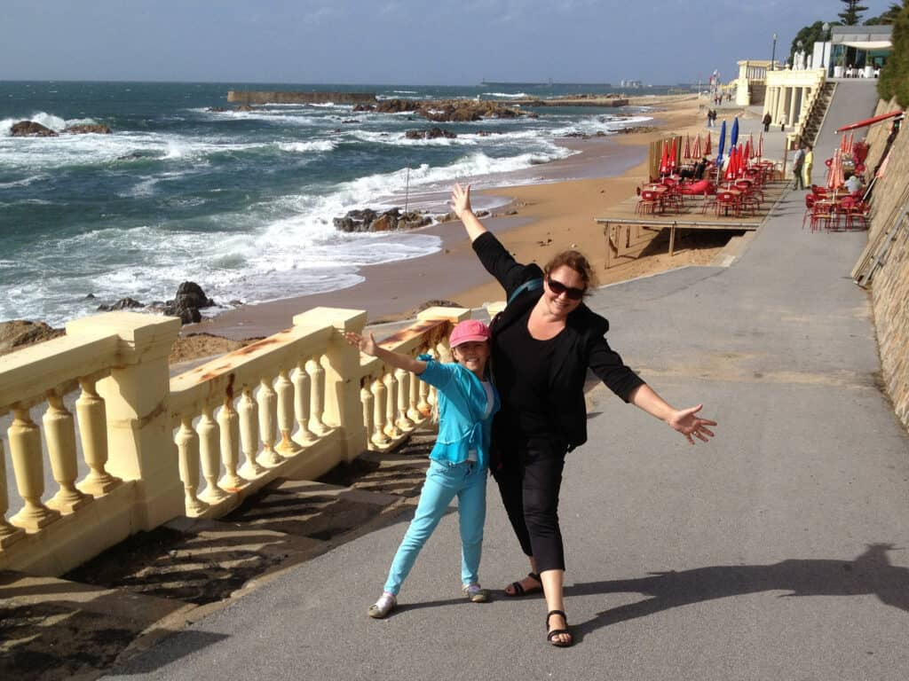 Aan de kust bij Porto 2012
