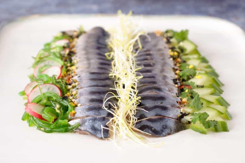 Sashimi van zalm tonijn of makreel?