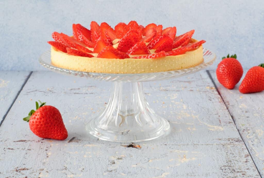 Tartelette met aardbeien