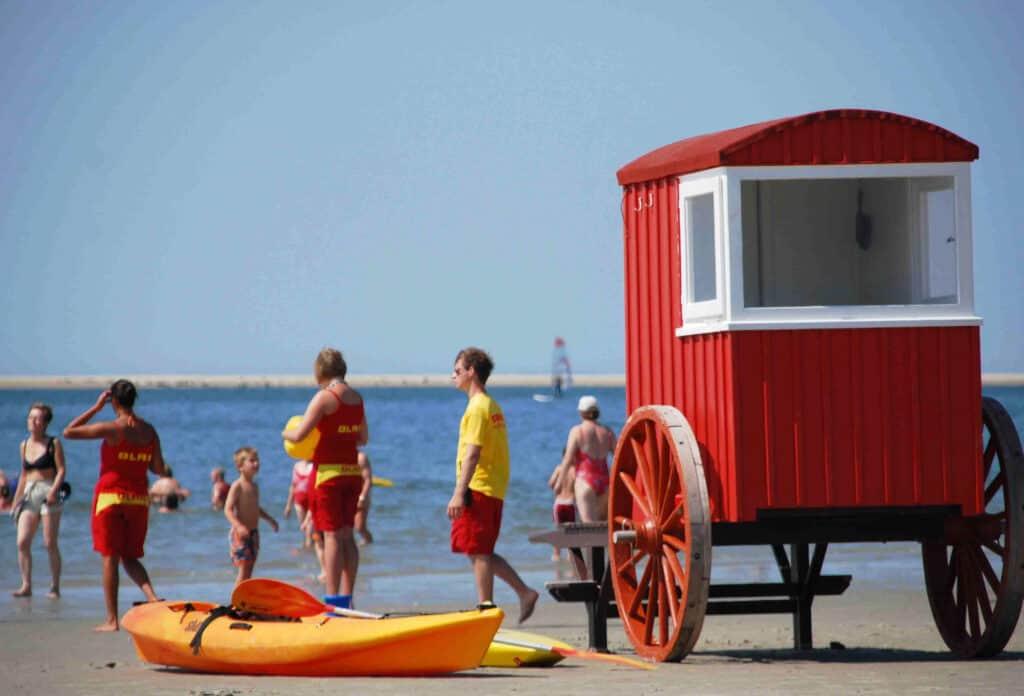 Strand van waddeneiland Borkum