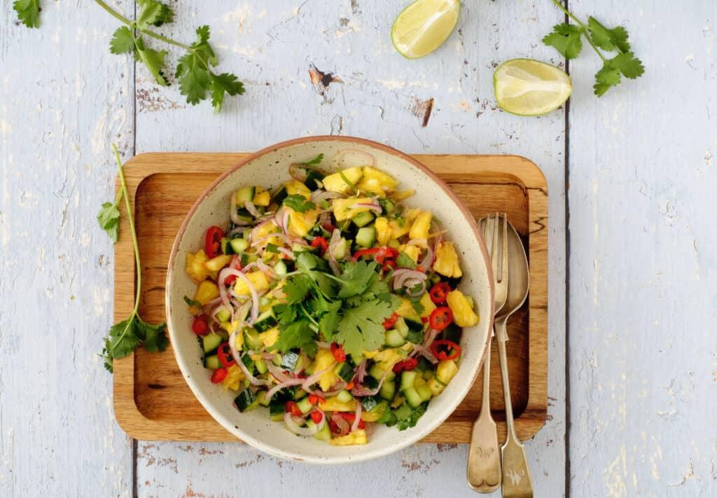 Snelle salade bij de bbq