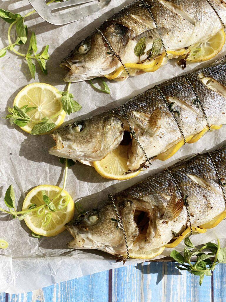 Gegrilde vis met citroensaus