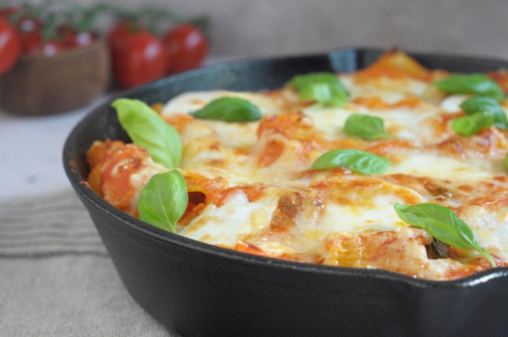 Oven pasta tomaat & mozzarella